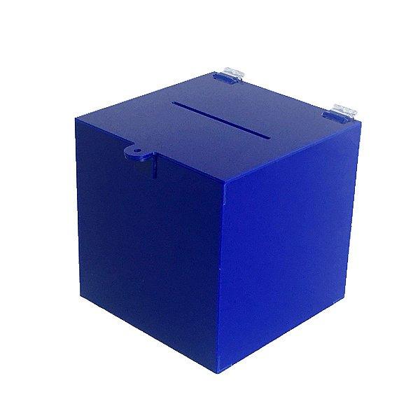 Urna de acrílico azul - 20x20x20cm