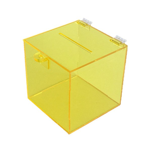 Urna de acrílico 15x15x15cm - Amarelo