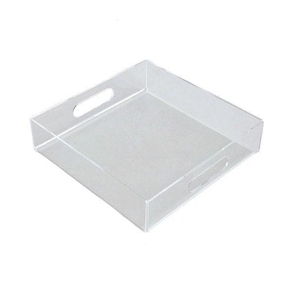 Bandeja de acrílico transparente quadrada