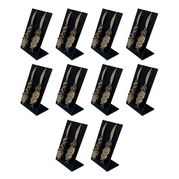 Expositor de brincos médio preto - Kit 10 peças