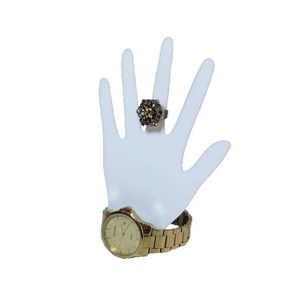 Expositor de anel tipo mão - Branco