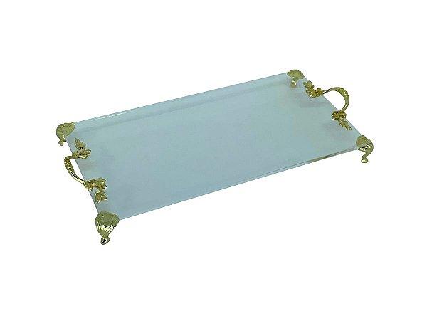 Bandeja para lavabo - Transparente e Dourada