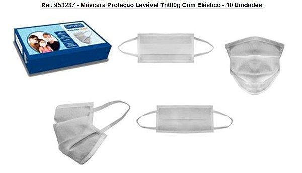 Ref. 953237 -  Máscara Proteção Lavável Tnt80g Com Elástico - 10 Unidades
