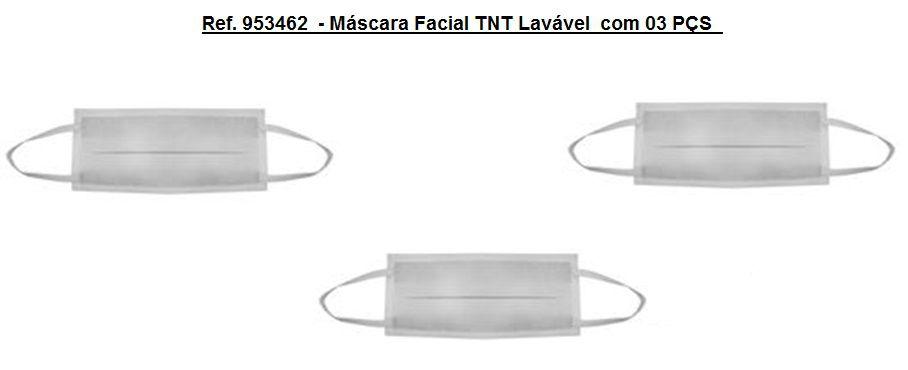 Ref. 953462  - Máscara Facial TNT Lavável  com 03 PÇS