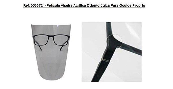 Ref. 953372  - Película Viseira Acrílica Odontológica Para Óculos Próprio
