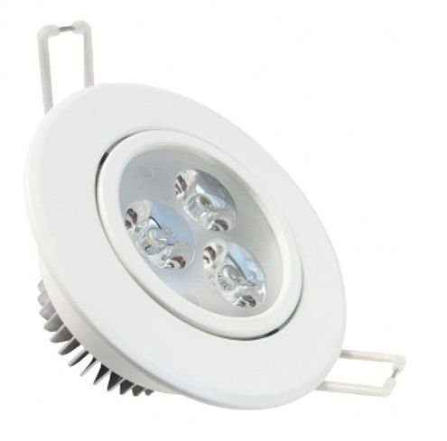 Lampada Spot Branco 3w Led Aluminio Para Teto Sanca Gesso