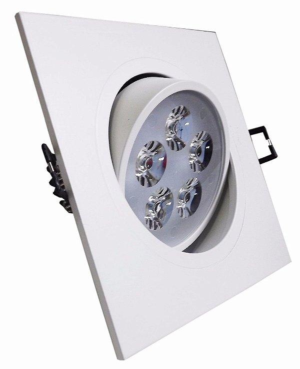 Lampada Spot Quadrada Branco 5w Led Para Teto Sanca Gesso