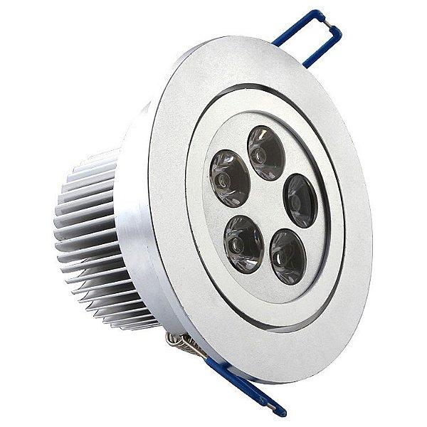 Lampada Spot 5w Led Aluminio Para Teto Sanca Gesso