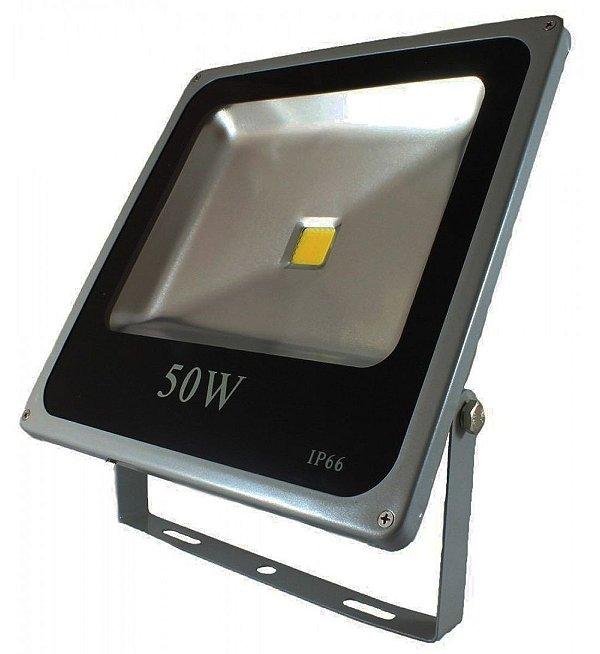 Refletor Holofote Slim 50w Led Bivolt E Prova D'agua