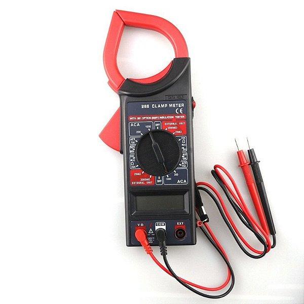 Alicate Amperímetro Digital Multímetro Com Estojo