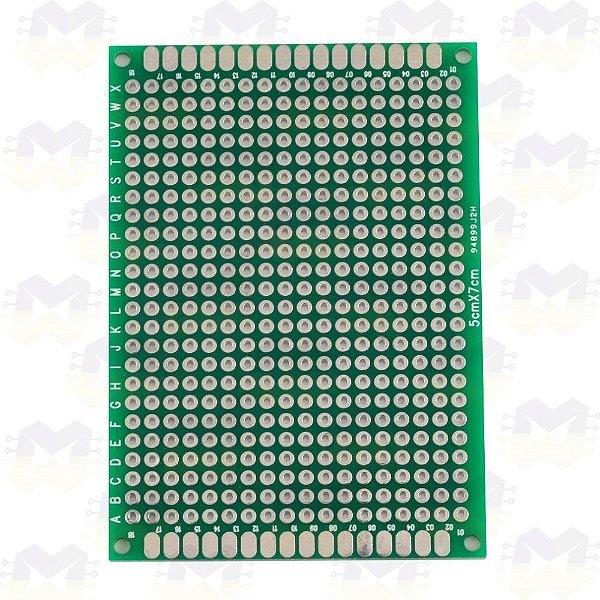 Placa de Circuito Impresso Ilhada 5X7 (432 furos)