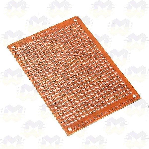Placa (PCB) de Circuito Impresso 5X7 Perfurada (432 furos)