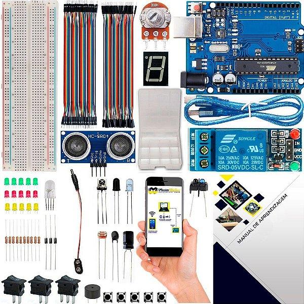 Kit Iniciante Básico com Brinde e Manual para Arduino Uno R3