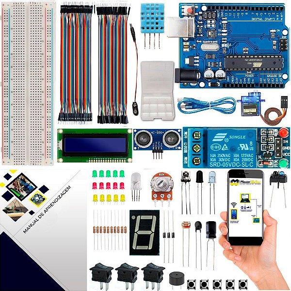 Kit Intermediário Maker com Brinde e Manual para Arduino Uno R3