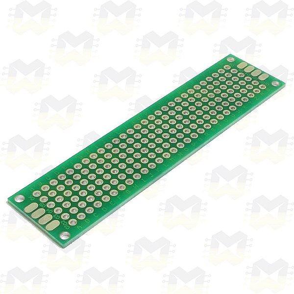 Placa de Circuito Impresso Ilhada 2X8 (168 furos)