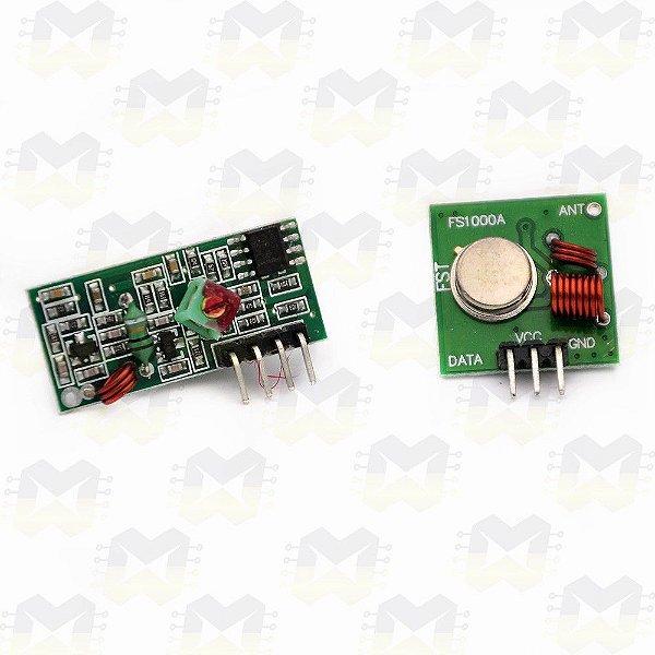 Módulo Wireless RF 315MHz (Transmissor e Receptor)