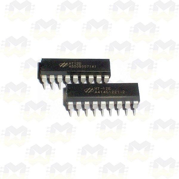 KIT HT12E e HT12D (Encoder e Decoder) para RF