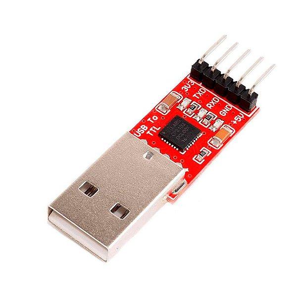 Adaptador Conversor USB Serial CP2102 5 pinos
