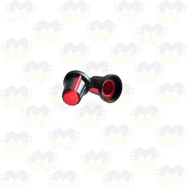 Knob Vermelho para Eixo 6mm Estriado