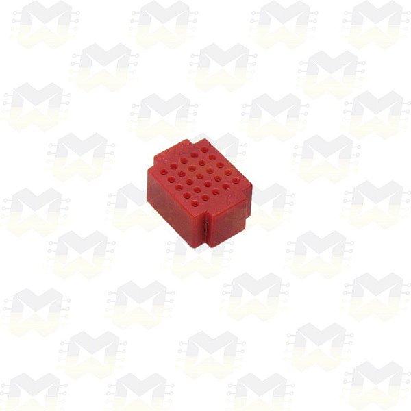 Mini Protoboard Vermelha de 25 Pontos (Lego)