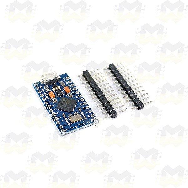 Placa compatível com Arduino Pro Micro ATmega32U4