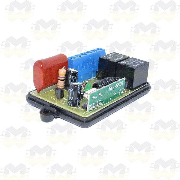 Módulo Relê para Automação Residencial RF 433MHz 220V 2 Canais com entrada para interruptor e Compatível com Arduino