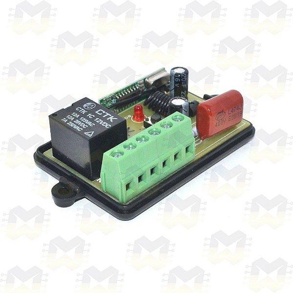 Módulo Relê para Automação Residencial RF 433MHz 1 Canal 220V com entrada para interruptor e Compatível com Arduino