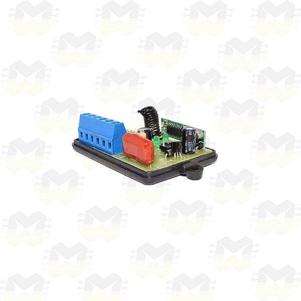 Módulo Dimmer para Automação Residencial RF 433MHz 1 Canal Bivolt com entrada para interruptor e Compatível com Arduino