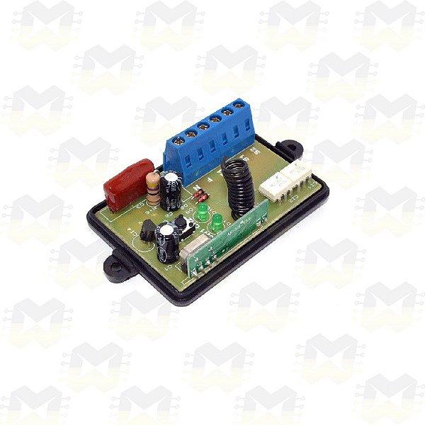 Módulo Dimmer para Automação Residencial RF 433MHz 2 Canais Bivolt com entrada para interruptor e Compatível com Arduino