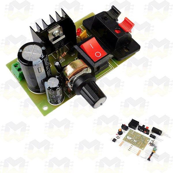 KIT DIY Regulador de Tensão Ajustável LM317
