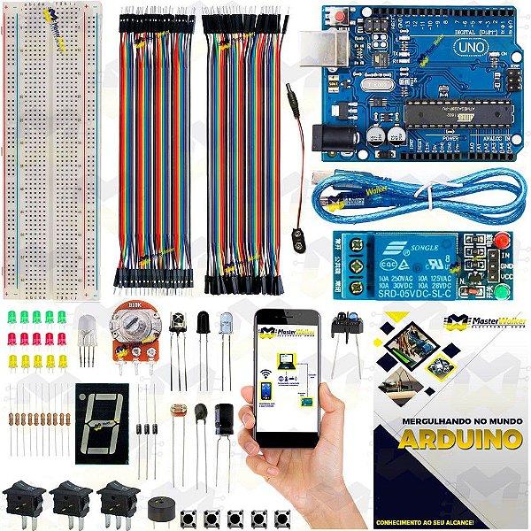 Mini Kit Arduino Uno R3 Básico Iniciante Start + Manual 2019 + Sensor Brinde