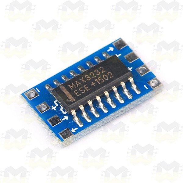 Mini Módulo MAX3232 Conversor Serial RS232 para TTL