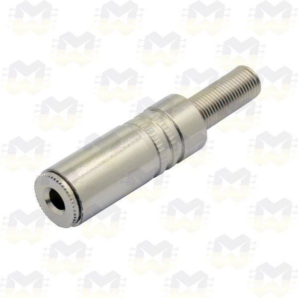 Plug Conector P2 Metal Estéreo Fêmea