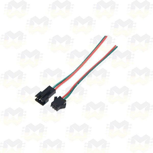 Par (macho e fêmea) de Plug Conector JST SM03 3 Pinos