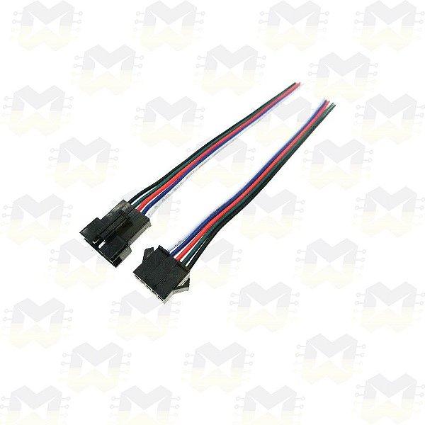 Par (macho e fêmea) de Plug Conector JST SM05 5 Pinos