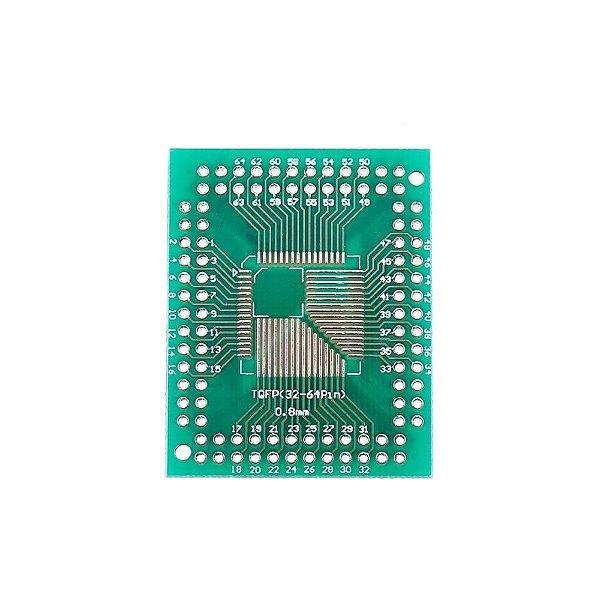 Adaptador FQFP / TQFP (32 44 64 80 100) SMD para DIP