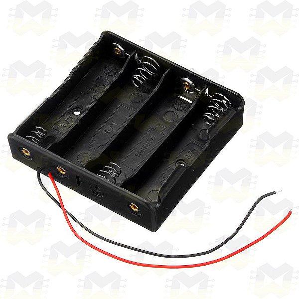 Suporte Porta 4 Baterias 18650