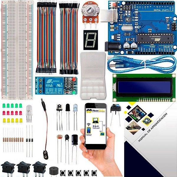 Kit Iniciante Automação LCD com Brinde e Manual para Arduino Uno R3