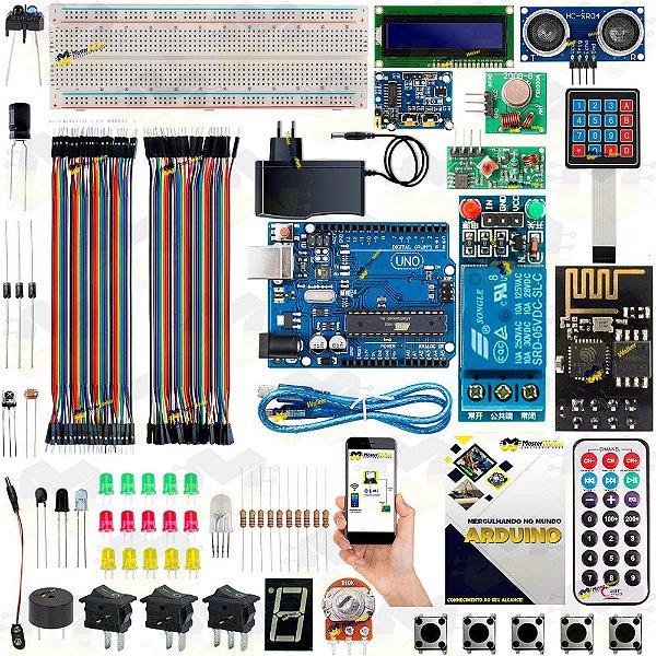 Kit Arduino Uno R3 Automação com WiFi ESP8266 + Manual 2019 + Sensor Brinde