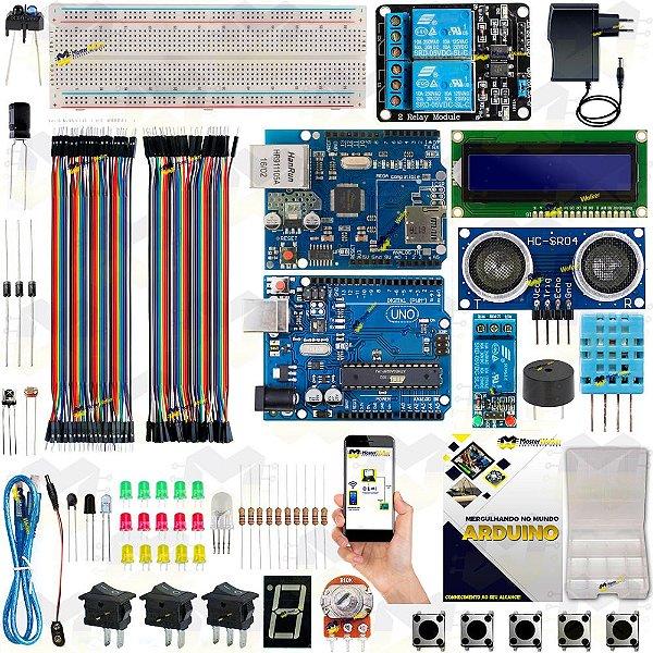 Kit Arduino Uno R3 Automação Residencial Android + Manual 2019 + Sensor Brinde