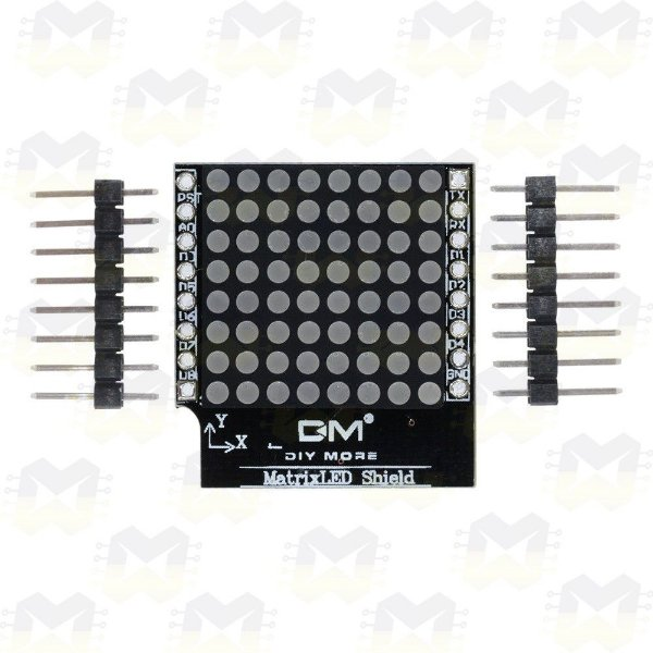 Shield Matriz de Led 8x8 para Wemos D1 Mini ESP8266 WiFi