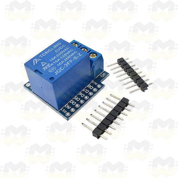 Shield Relé 5V 1 Canal para Wemos D1 Mini ESP8266 WiFi