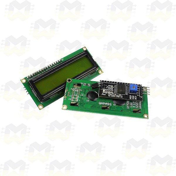 Display LCD 16x2 Backlight Verde com Adaptador I2C