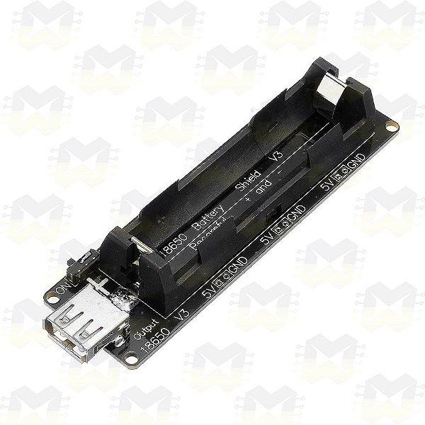 Shield V3 Carregador de Bateria 18650 com USB e Saída 3V / 5V