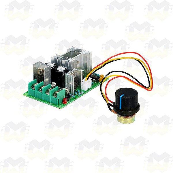 Controlador PWM 20A 10V a 60V para Velocidade de Motor DC