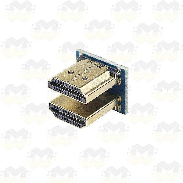 """Conector HDMI duplo para Tela LCD de 3.5"""" ou 5"""" e Raspberry Pi"""