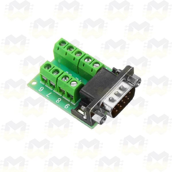 Módulo Adaptador DB9 Serial RS232 Macho com Borne