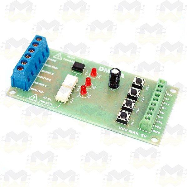 Módulo Dimmer AC de 2 Canais Bivolt para Arduino / ESP8266 / ESP32