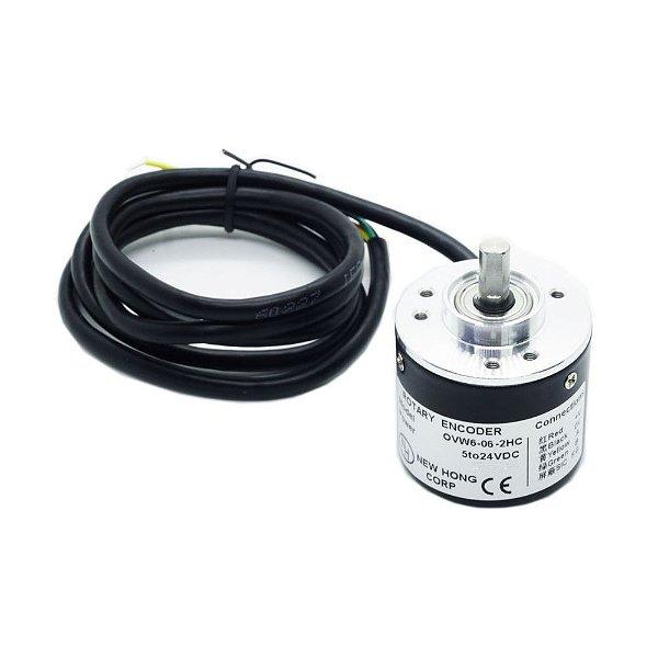Encoder Incremental Rotativo NPN 600 Pulsos 5 a 24VDC
