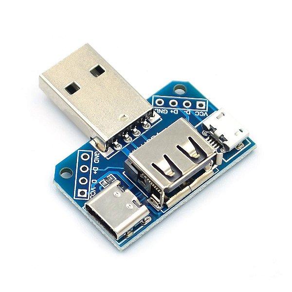 Adaptador USB XY-USB4 Conexão 4 em 1 e DIP 2.54mm
